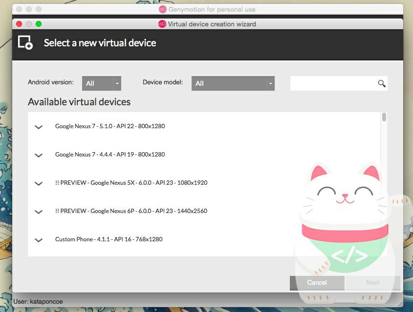 Membuat Perangkat Virtual pada Genymotion