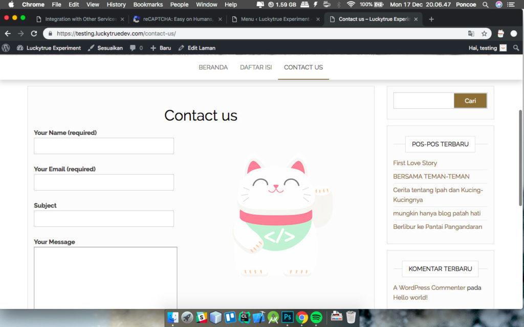 Contact Us Web Page >> Cara Membuat Halaman Contact Us Wordpress Luckytrue